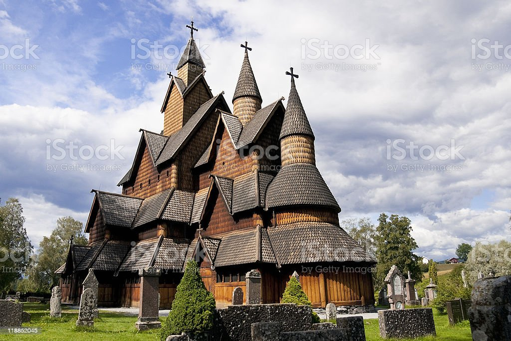 Stave Church in Norway royalty-free stock photo