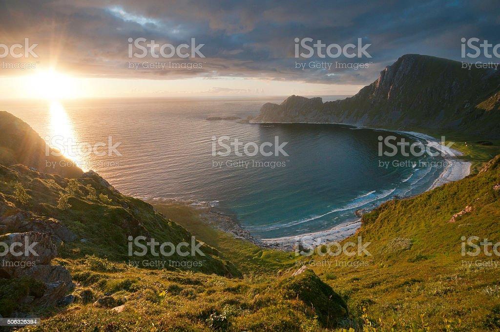 Stave Sunset stock photo