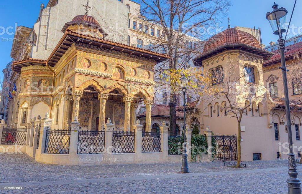 Stavropoleos Church, Bucharest, Romania stock photo