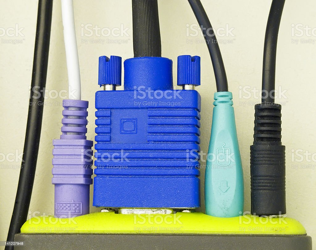Stay connected even if you have to be hardwired royalty-free stock photo