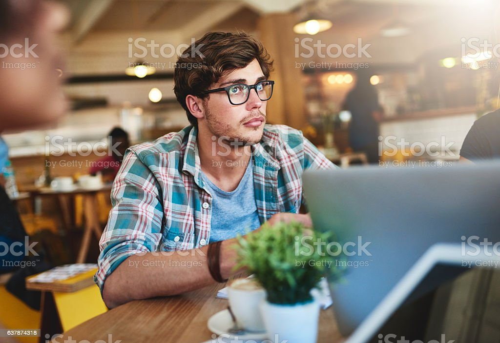 Stay focused and never give up stock photo