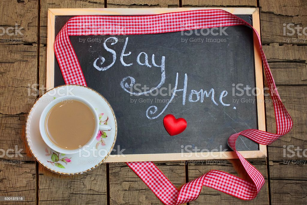 Stay Home stock photo