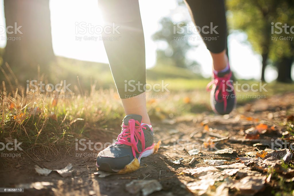 Stay on track! stock photo
