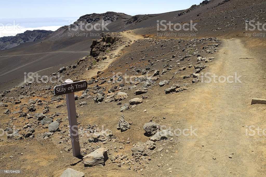Stay On Trail royalty-free stock photo
