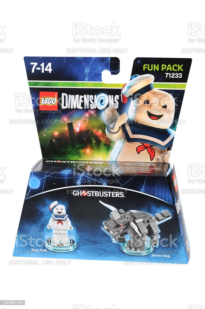 Stay Puft Ghostbusters Lego Dimensions Fun Pack stock photo