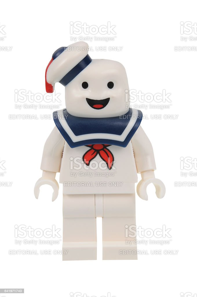 Stay Puft Ghostbusters Lego Minifigure stock photo