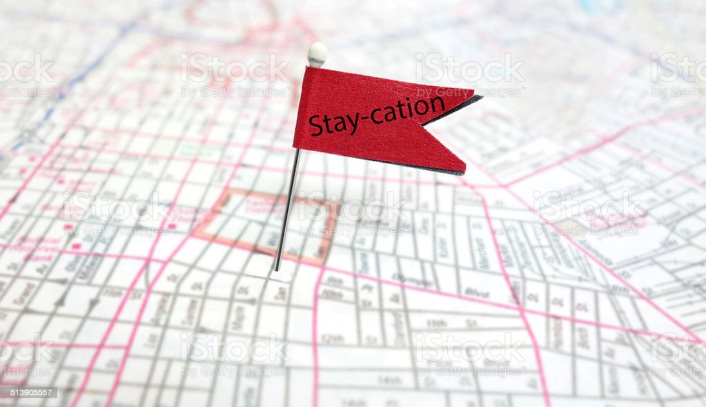 Staycation stock photo