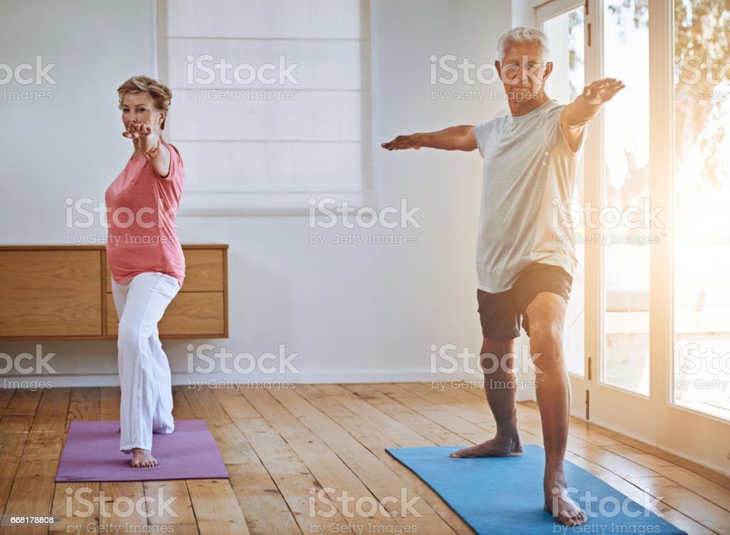 Staying active in their old age royalty-free stock photo