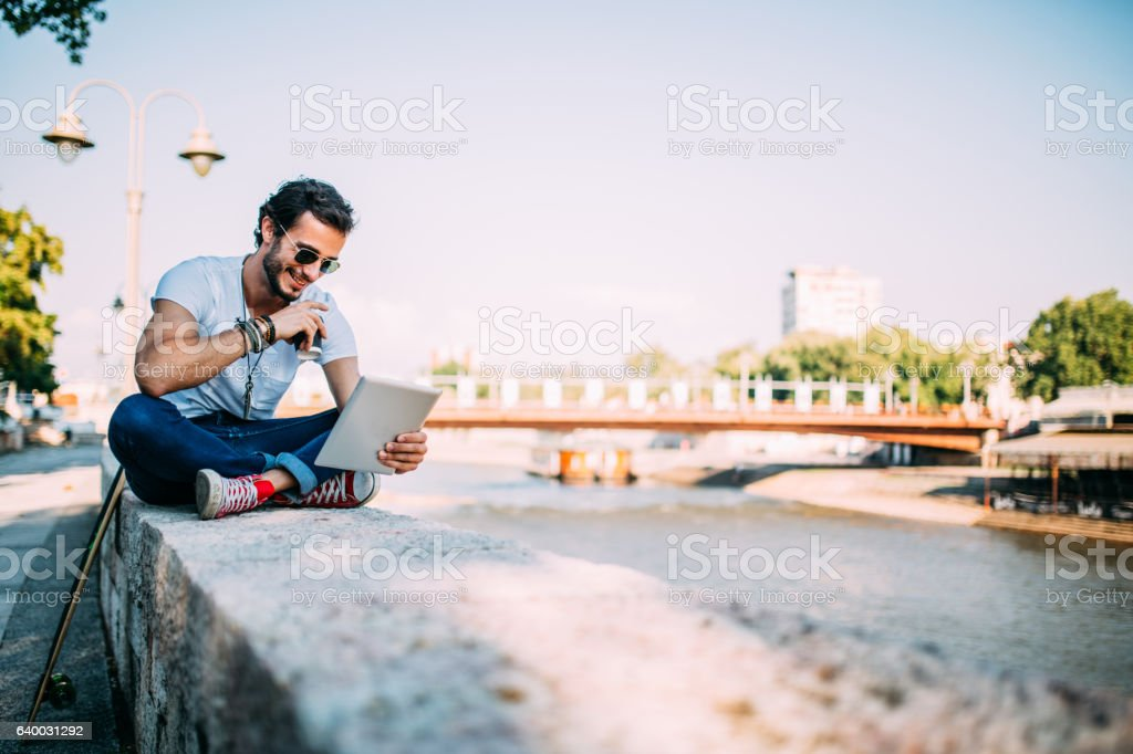Staying ahead with new technologies stock photo