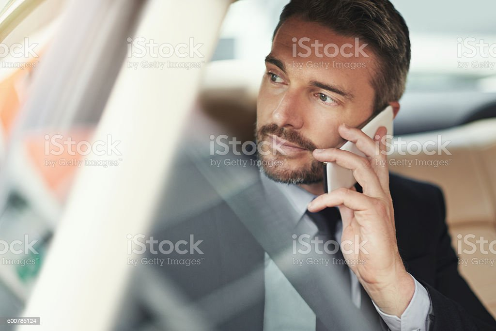 Staying connected in commute stock photo
