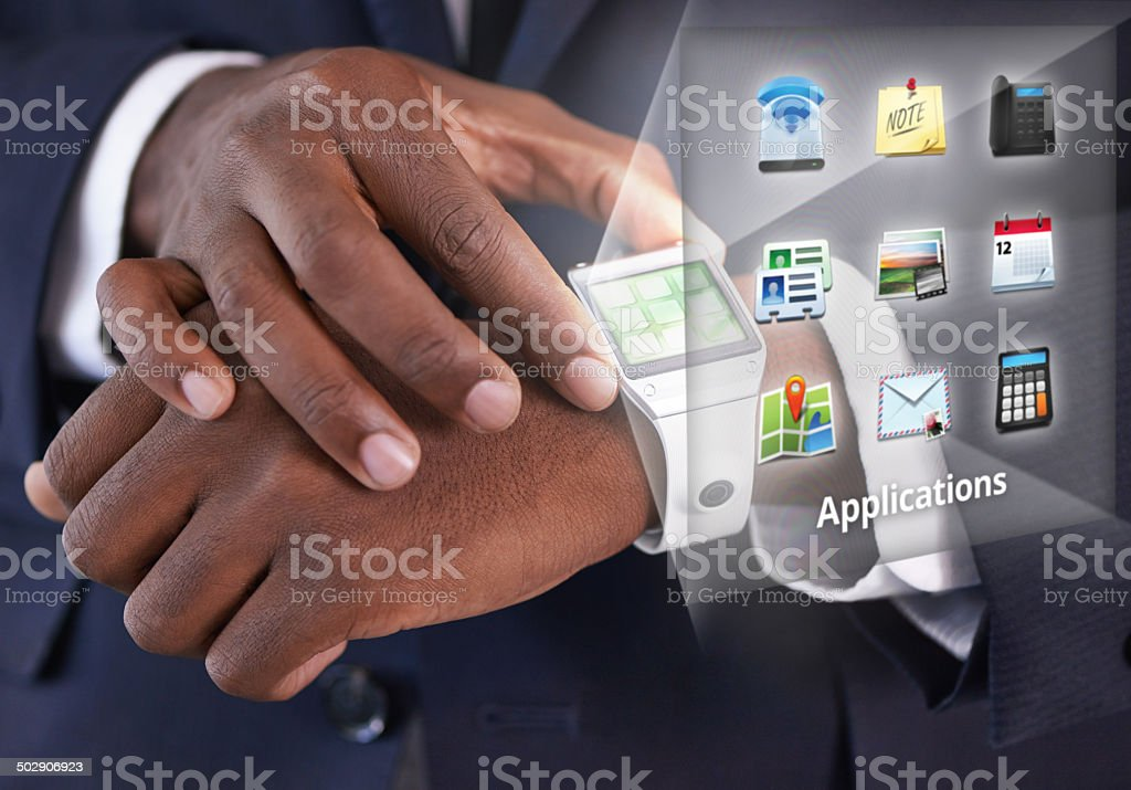Staying connected on the go stock photo