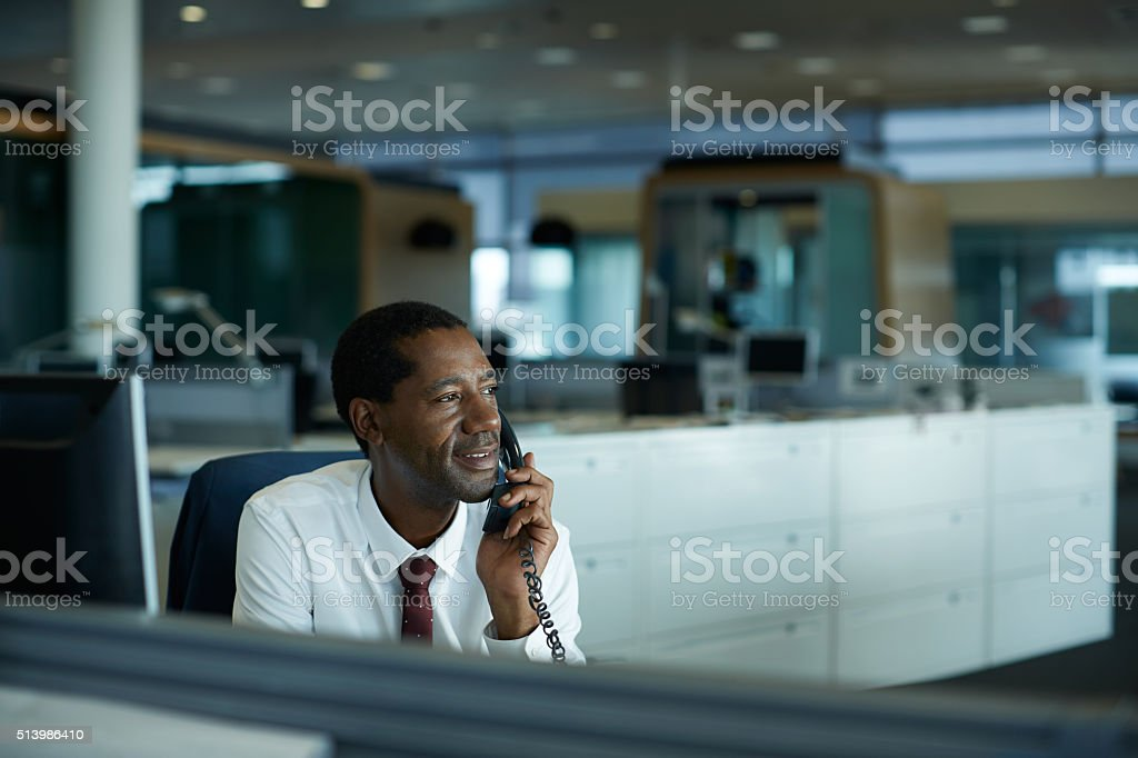 Staying connected with clients stock photo