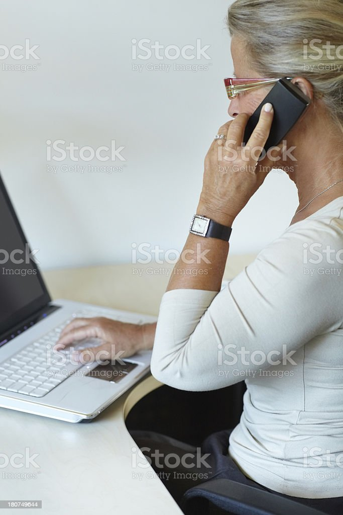 Staying constantly connected royalty-free stock photo