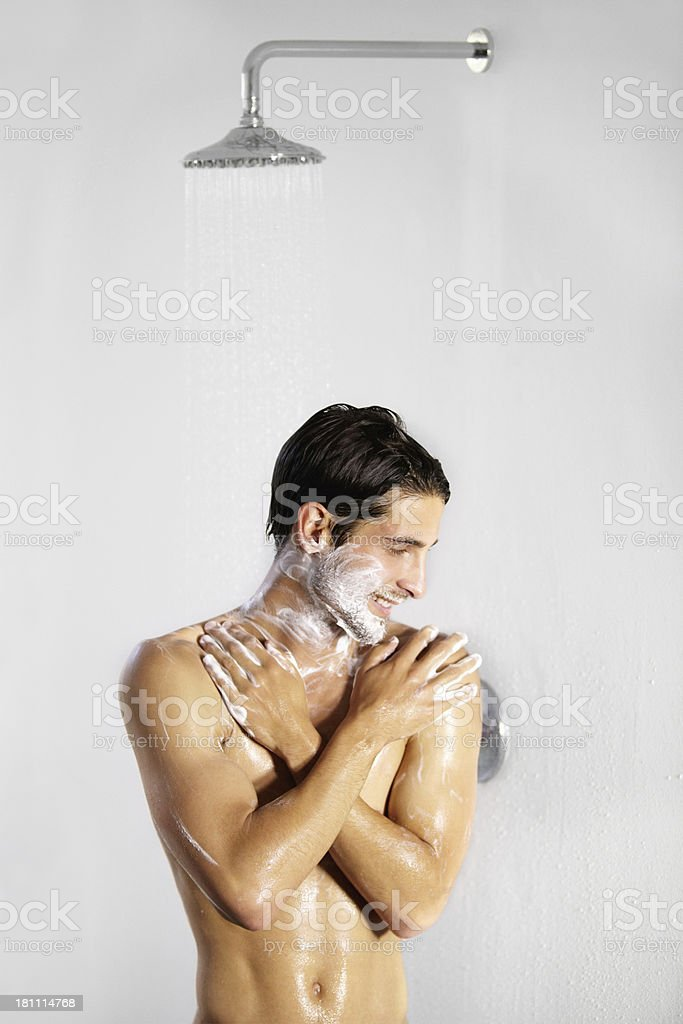 Staying fit and clean - Personal hygiene royalty-free stock photo