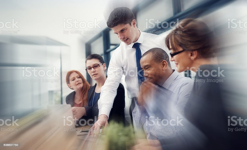 Staying focused on the plan stock photo