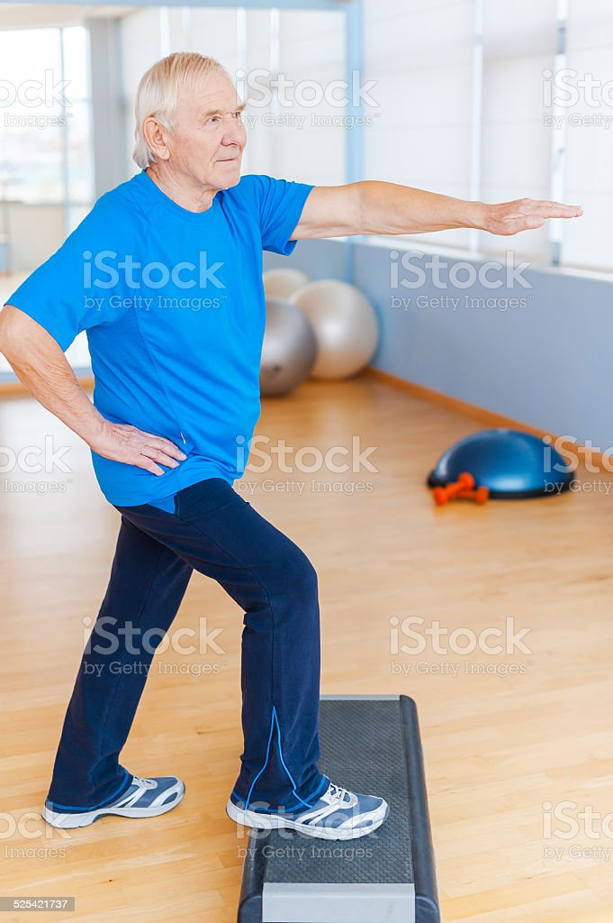 Staying healthy and active. stock photo