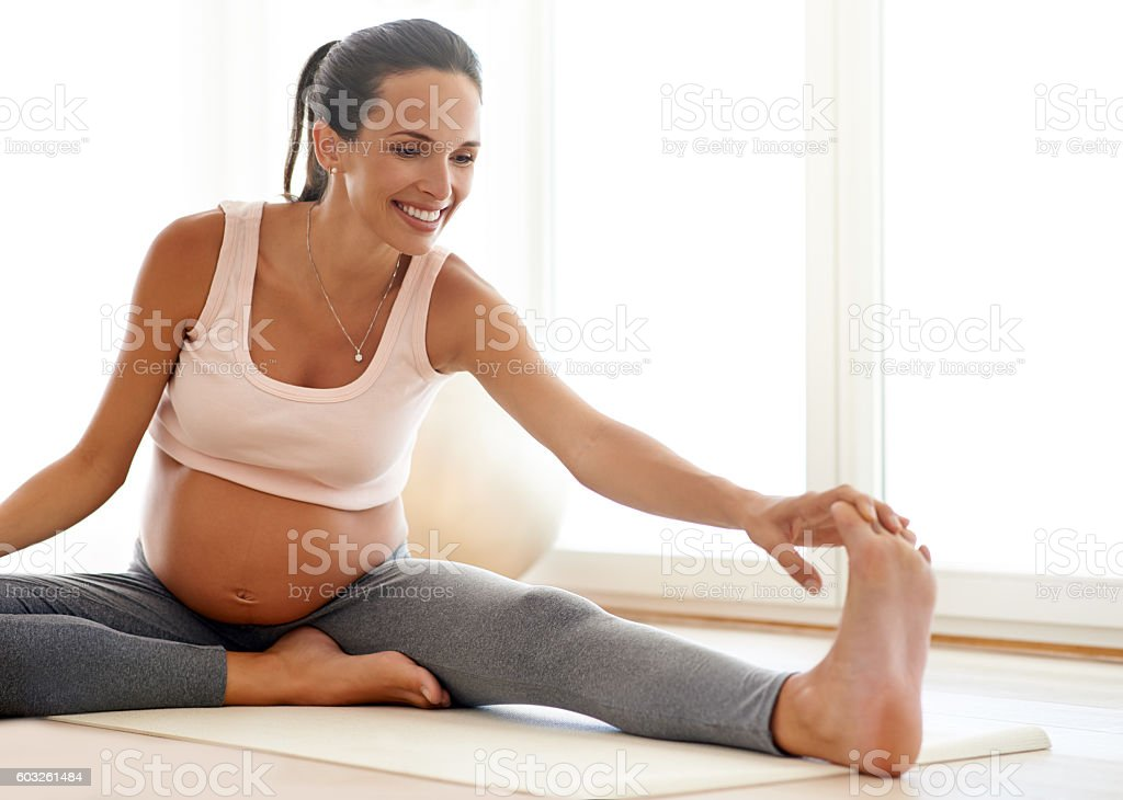Staying in shape for baby stock photo
