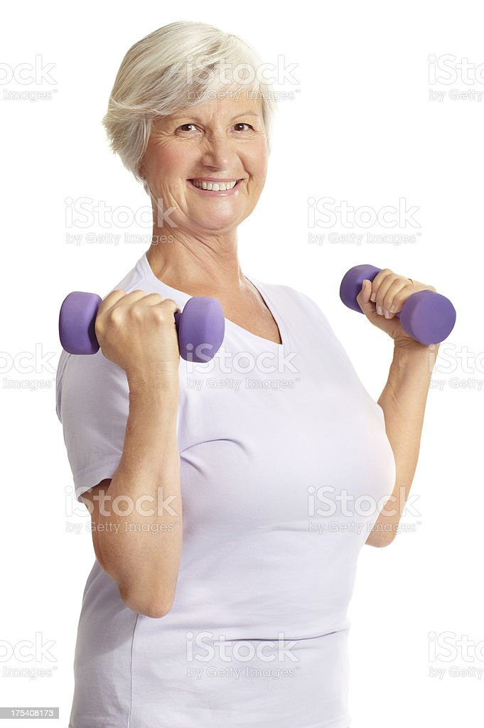 Staying in shape with a smile royalty-free stock photo