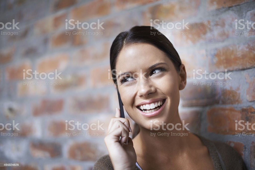 Staying in touch with clients and colleagues stock photo