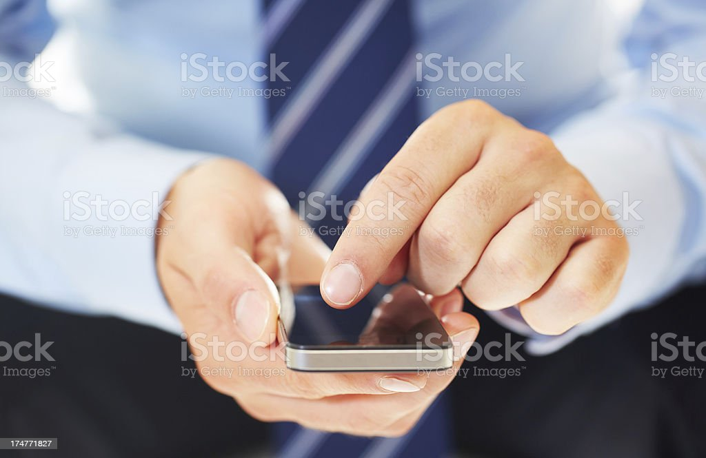Staying in touch with the corporate world royalty-free stock photo