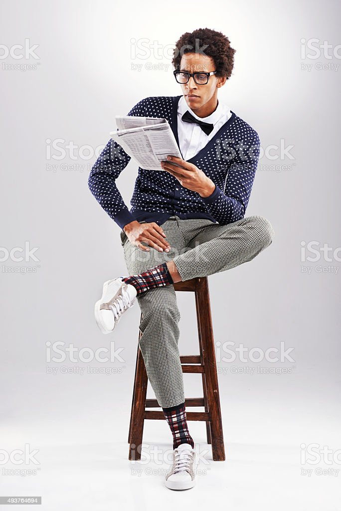 Staying informed stock photo