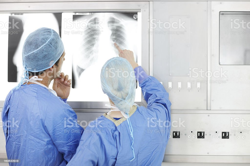Staying on top of a patient's health and wellbeing stock photo