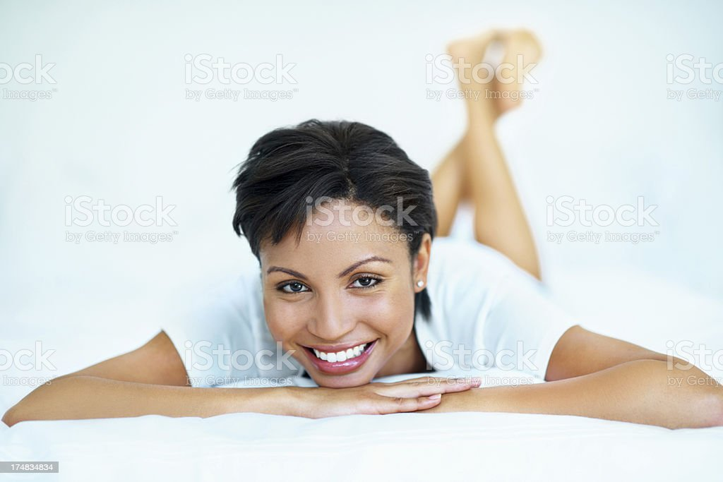 Staying relaxed is the secret to a great life royalty-free stock photo