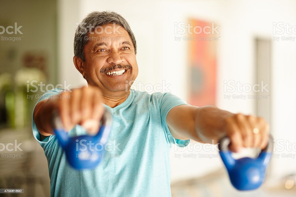 Staying strong and feeling great! stock photo