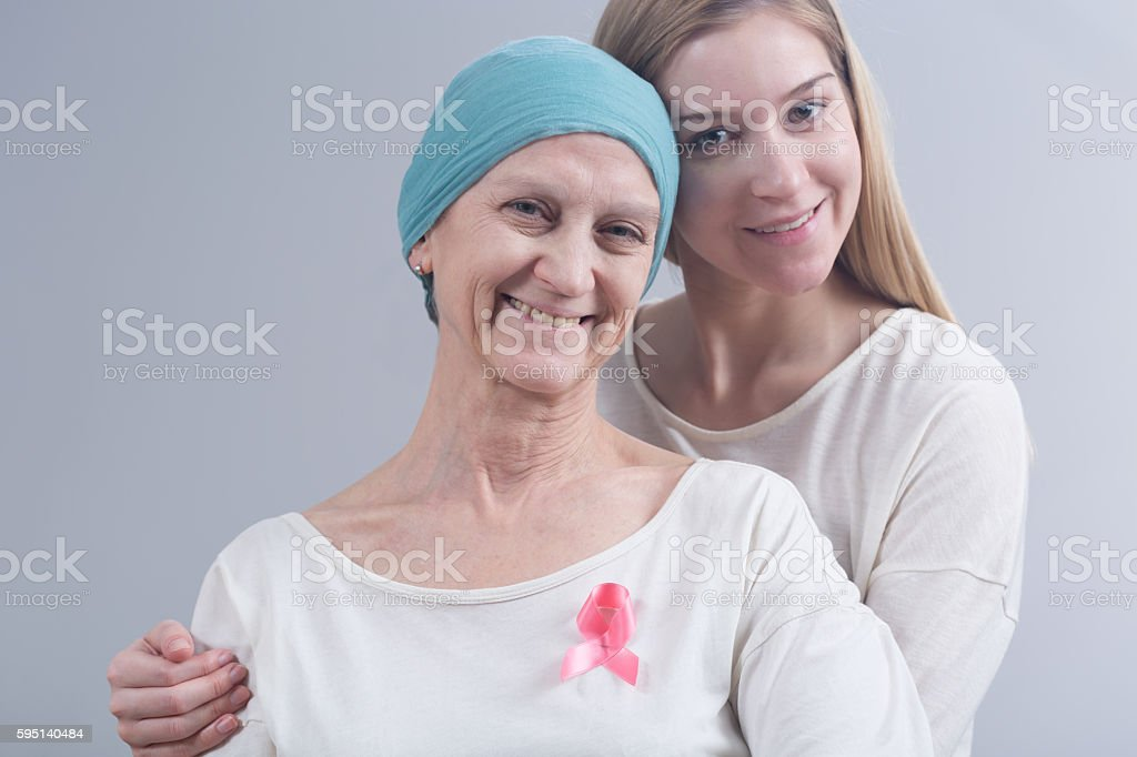 Staying together in tough disease stock photo