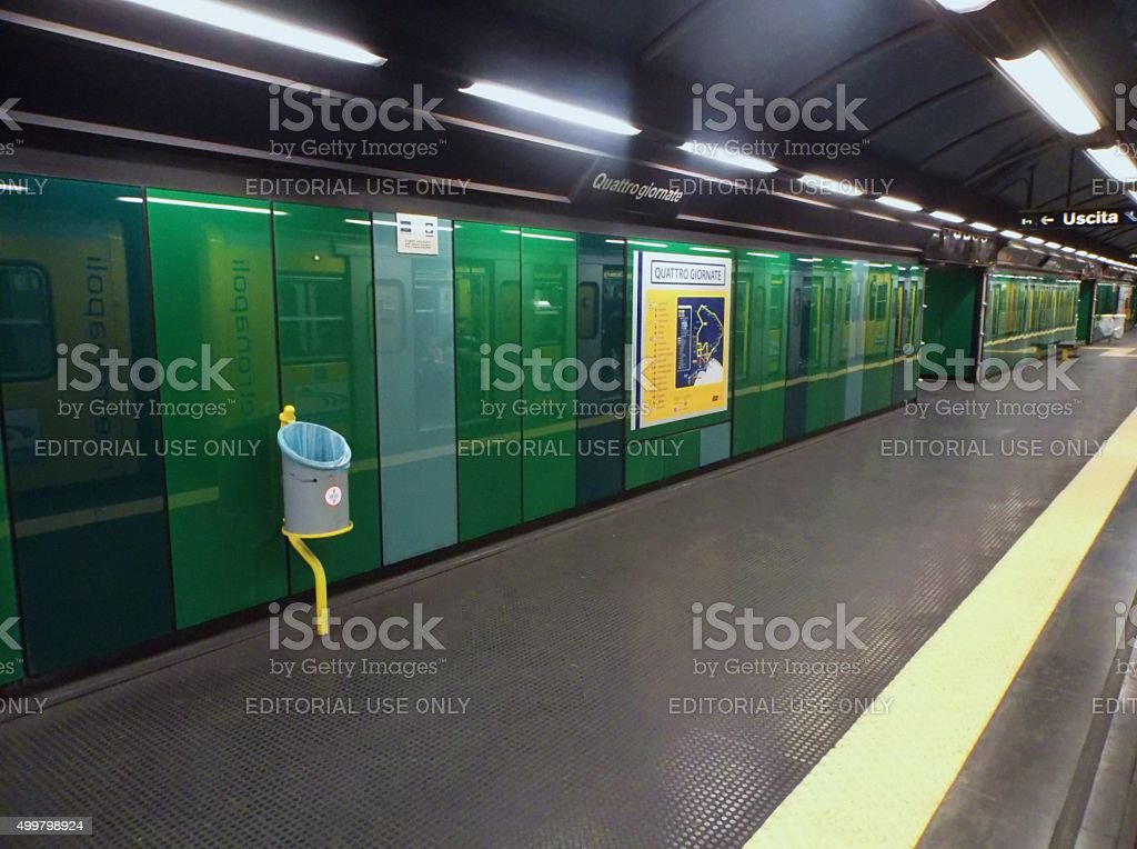 Stazione metro Quattro Giornate stock photo