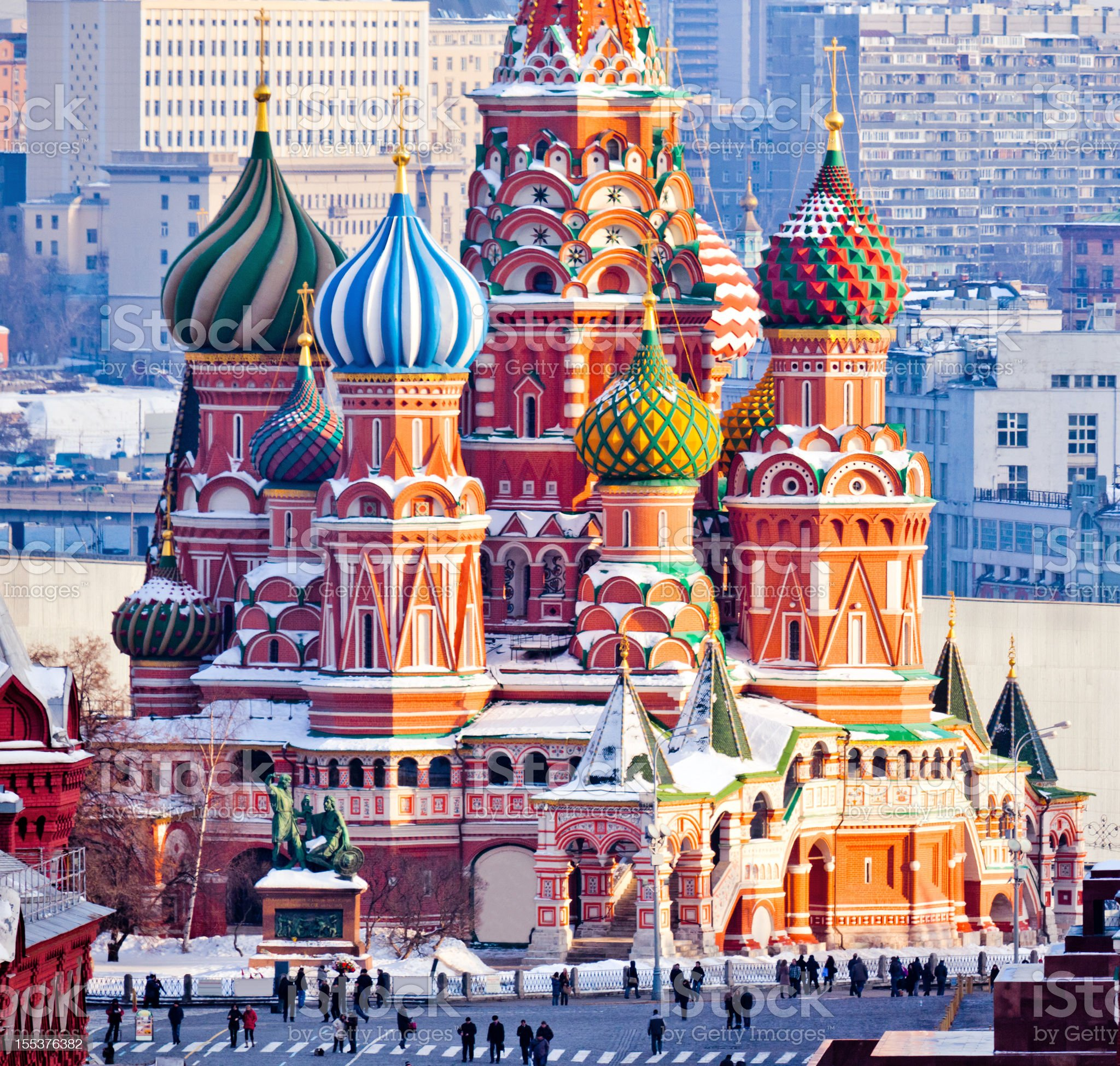 St.Basil Cathedral at Red Square in Moscow royalty-free stock photo