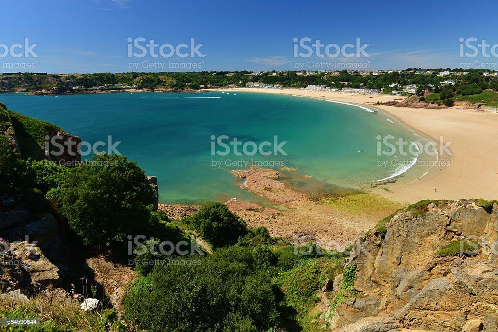 St.Brelade Bay, Jersey, U.K. stock photo