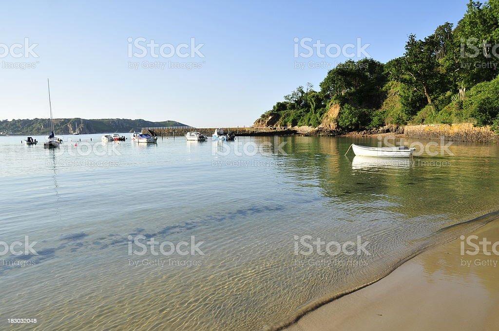 St.Brelade Bay,Jersey. stock photo