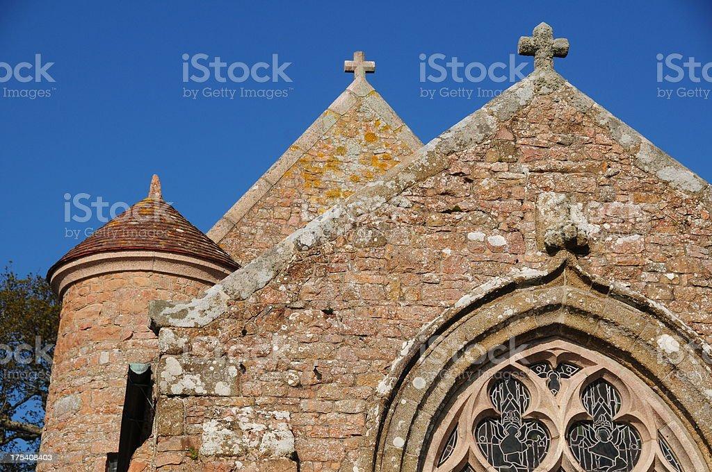 St.Brelade Church, Jersey. stock photo
