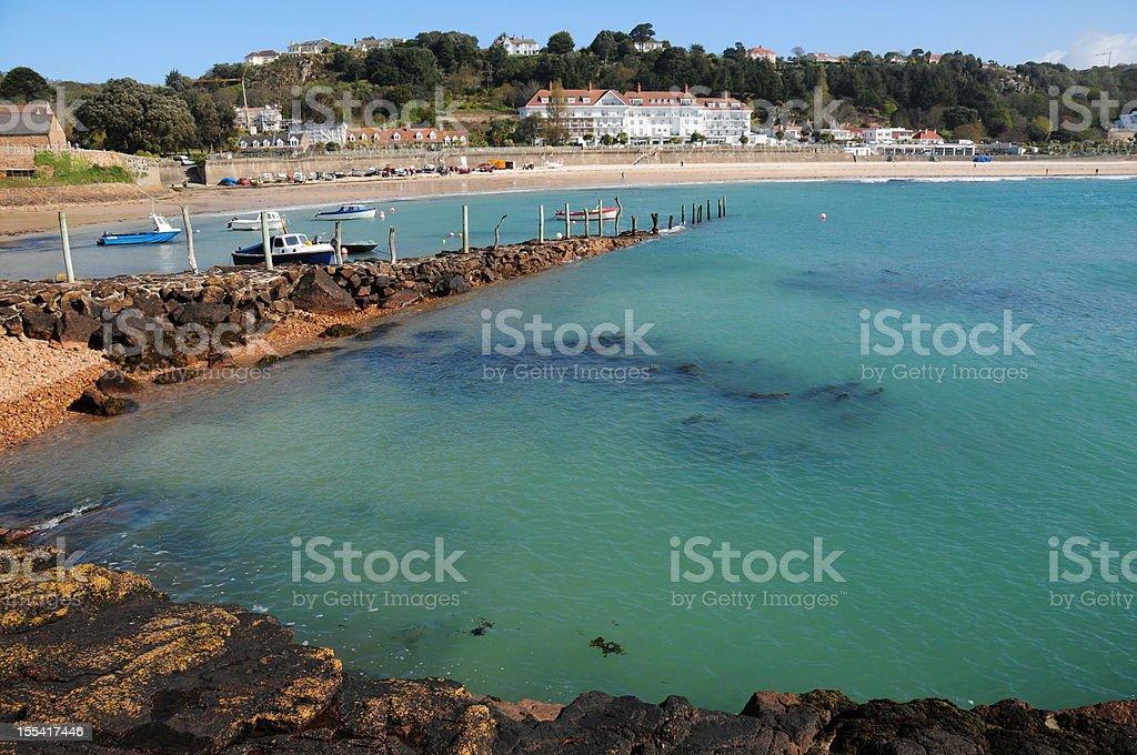 St.Brelade's Bay, Jersey. stock photo