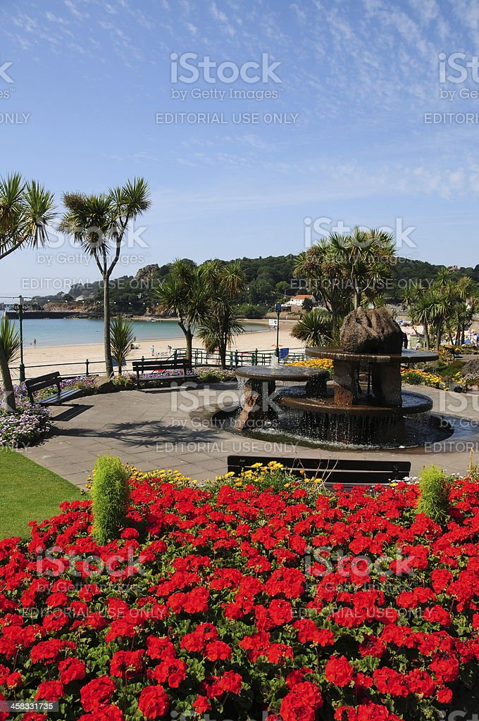 St.Brelades Bay, Jersey, U.K. royalty-free stock photo