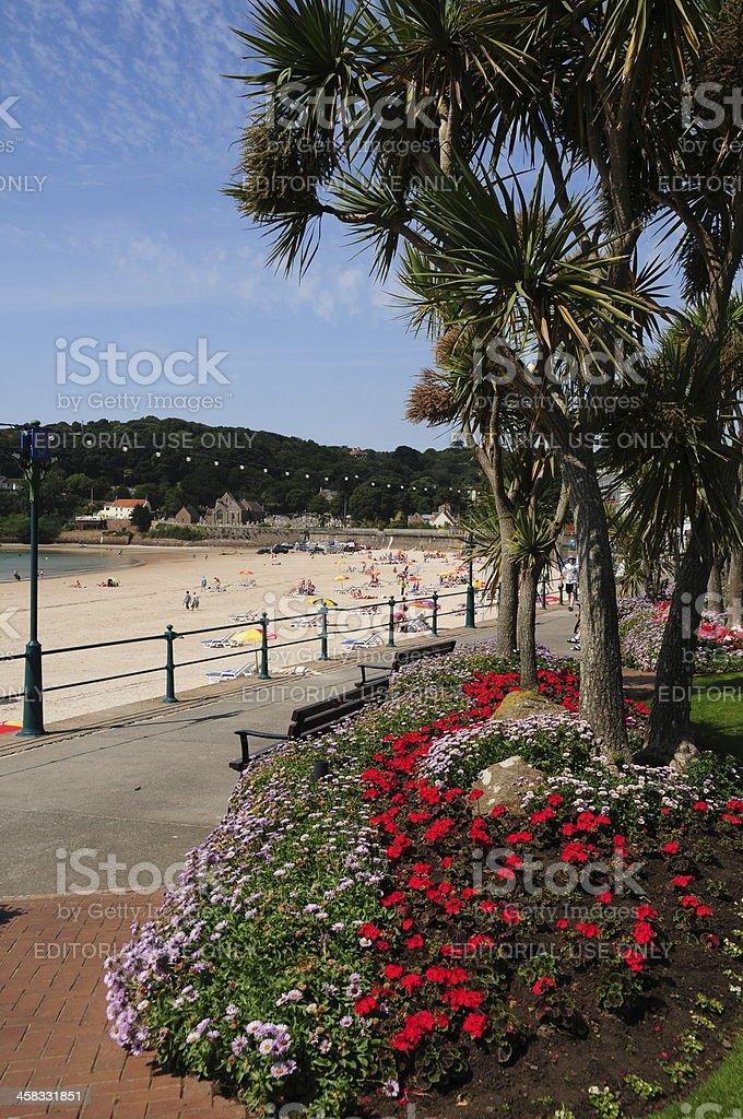 St.Brelade's Bay, Jersey, U.K. stock photo