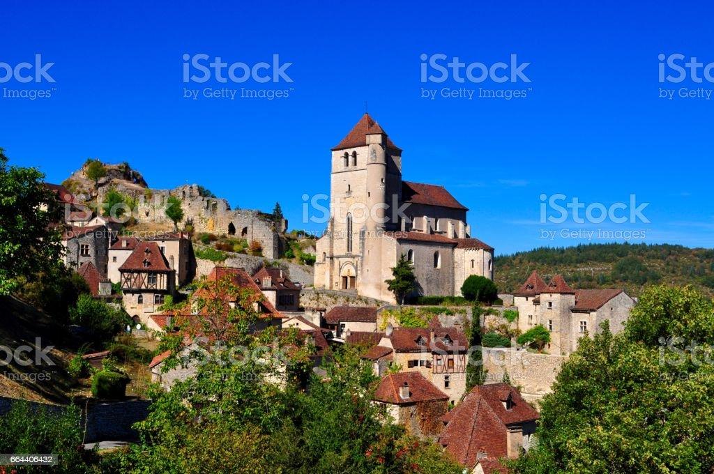 St-Cirq-Lapopie, France stock photo