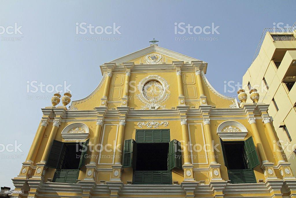 St.Dominic's Church in Macau stock photo