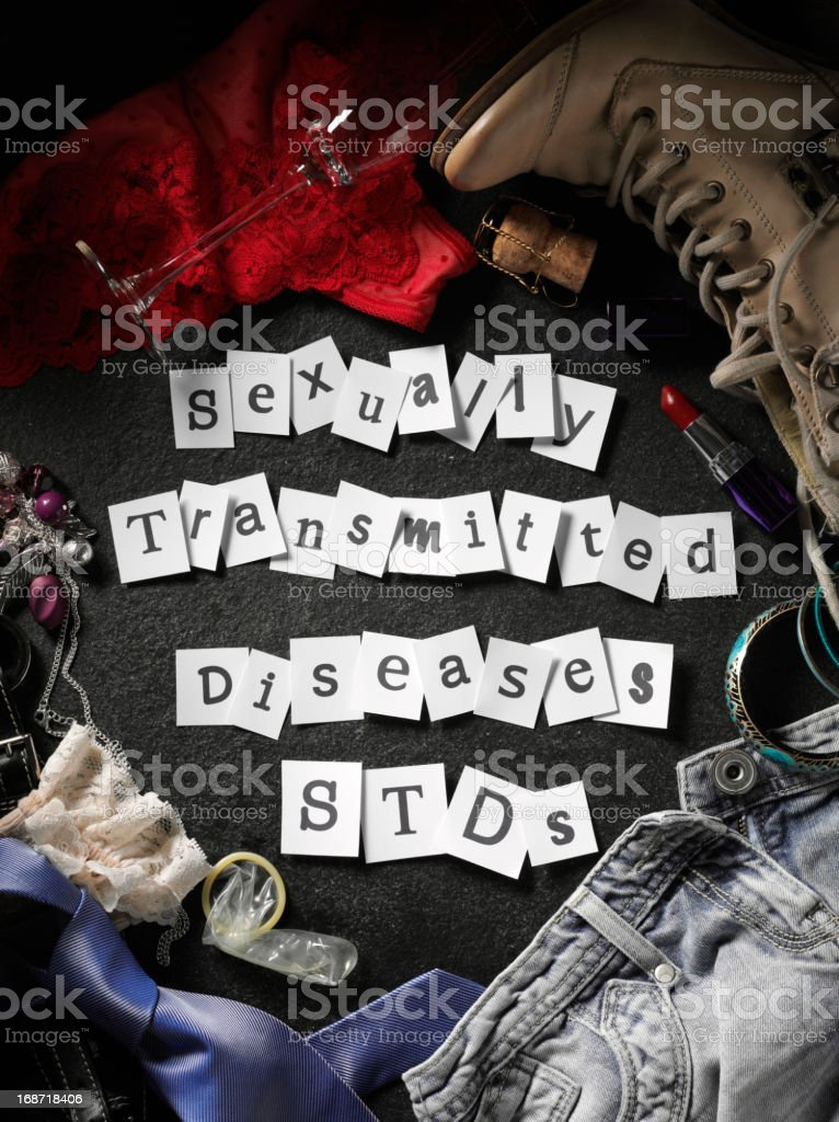 STDs Message on Paper royalty-free stock photo