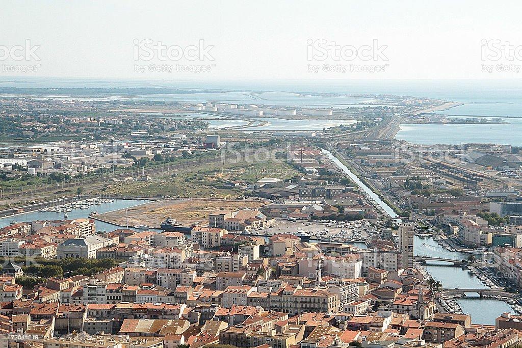 Sète, sud della Francia foto stock royalty-free