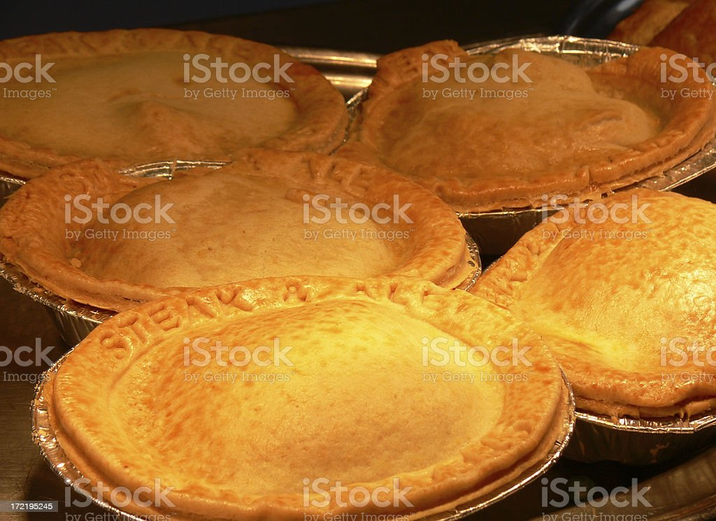 Steak and Ale pies royalty-free stock photo