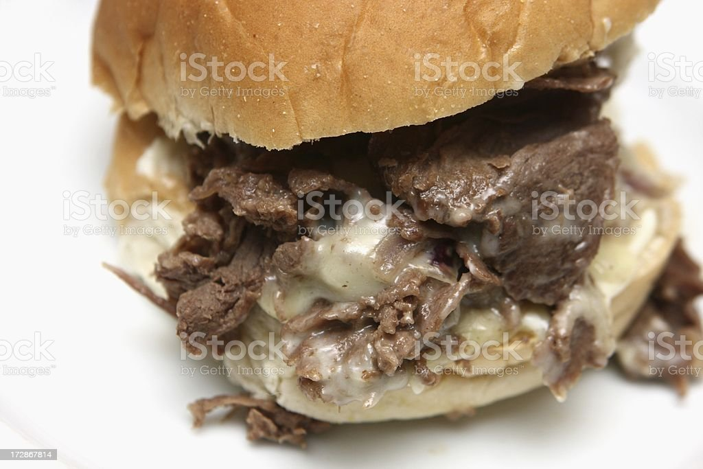 Steak and Cheese royalty-free stock photo