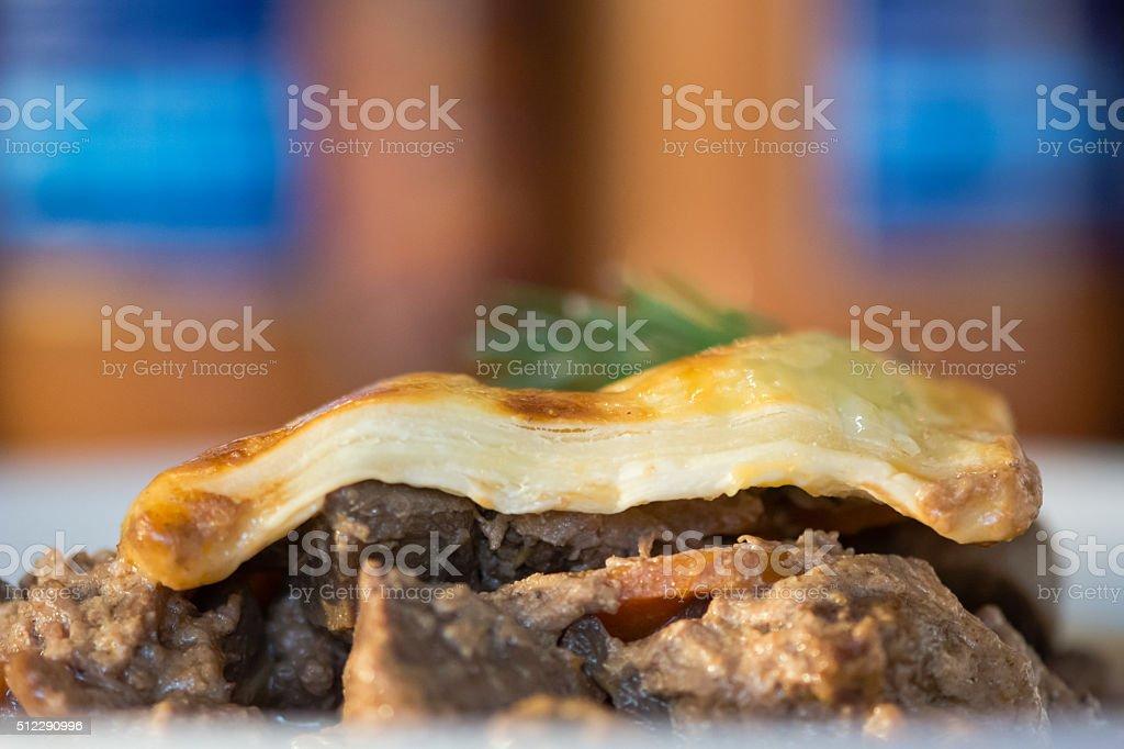 Steak and kidney pie stock photo
