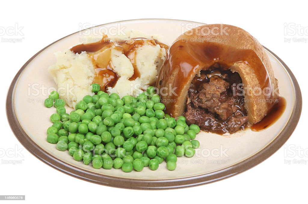 Steak and Kidney Pudding royalty-free stock photo