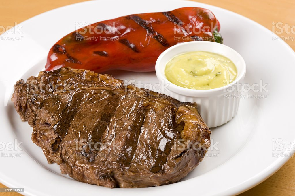 steak and pepper royalty-free stock photo