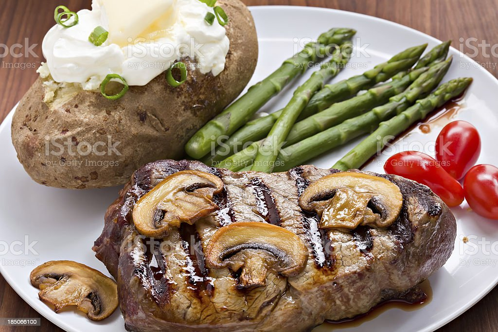 Steak And Potato Dinner royalty-free stock photo
