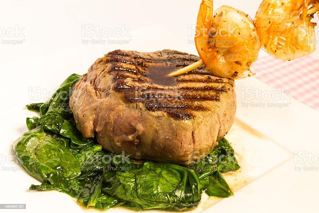 Steak and Shrimp stock photo