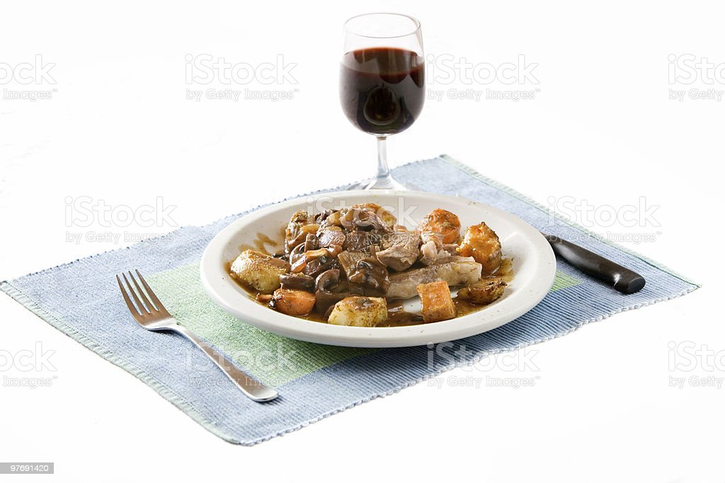 Steak and veg dinner royalty-free stock photo