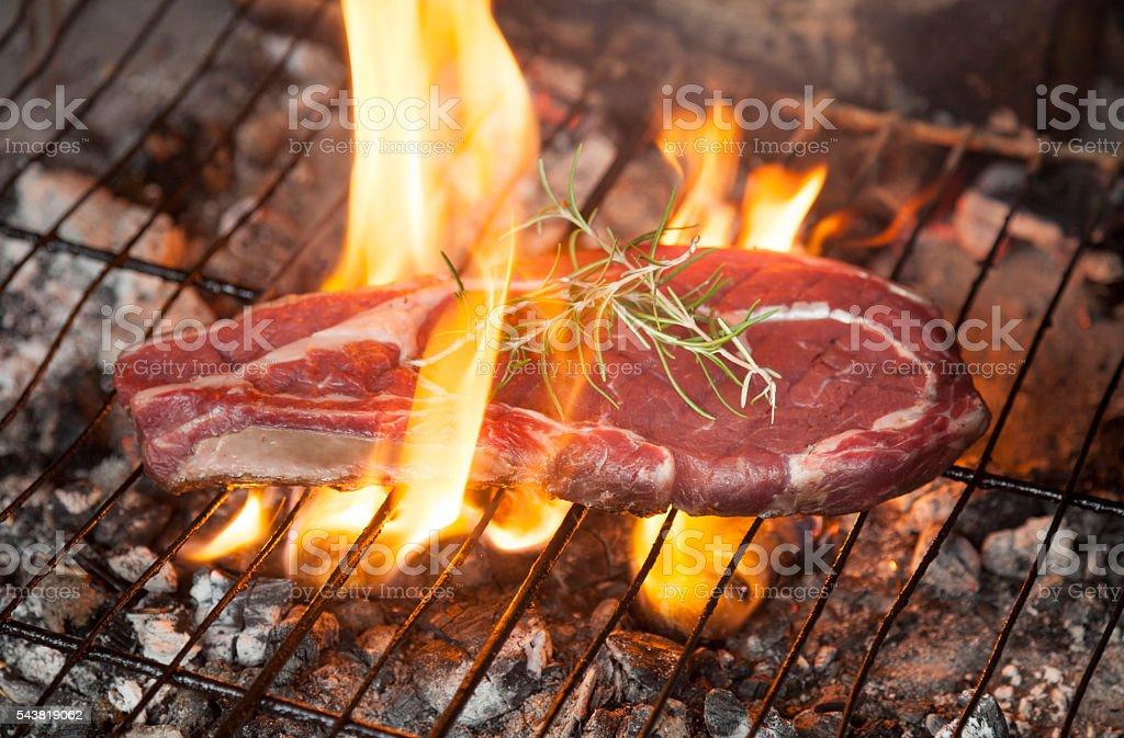 Steak barbacue stock photo